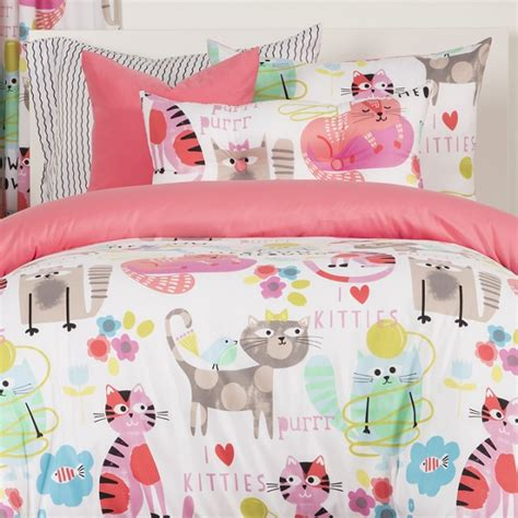 cat bed sheets kitty cat bedding whimsical purrty cat bunk comforter set