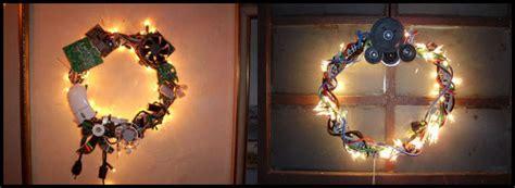 Hiasan Bunga Natal rangkaian bunga natal sulap perangkat elektronik jadi