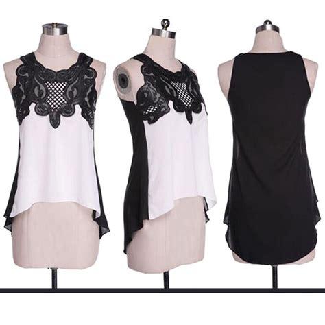 Blouse Wanita Chiffon Size L 5zwlab blouse wanita froral lace chiffon size l white jakartanotebook