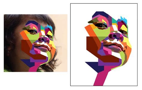 tutorial adobe illustrator indonesia how to create a geometric wpap vector portrait in adobe