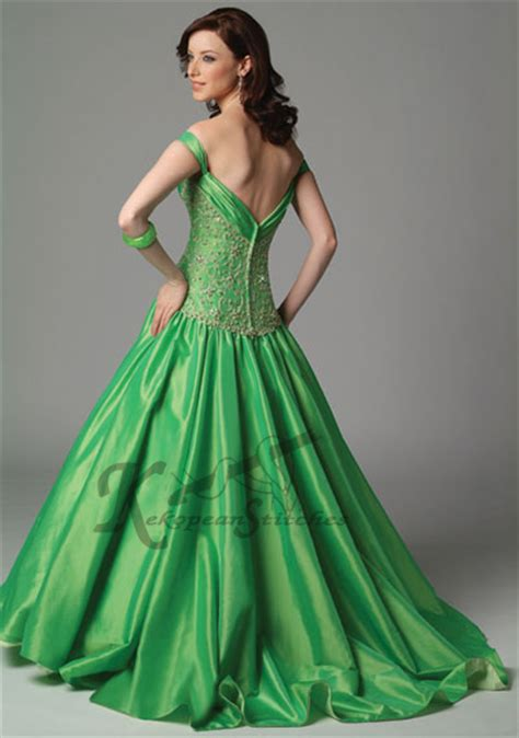 green and green wedding dress designs