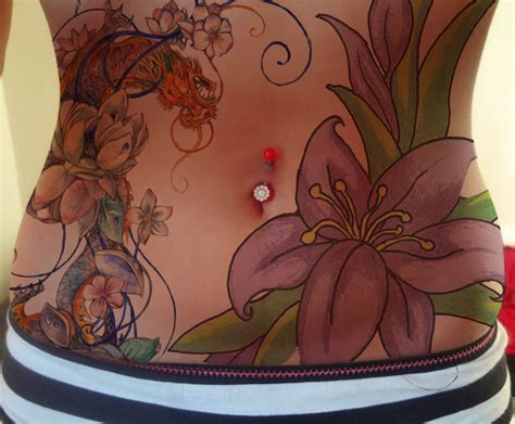 full stomach tattoo designs anika stomach by wavygoonam on deviantart