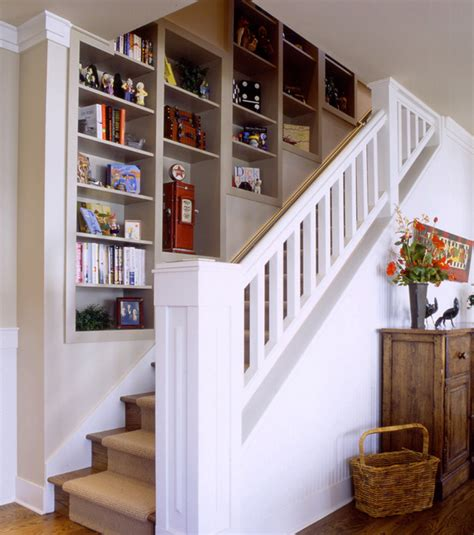 stairway bookshelves staircases with built in shelving units