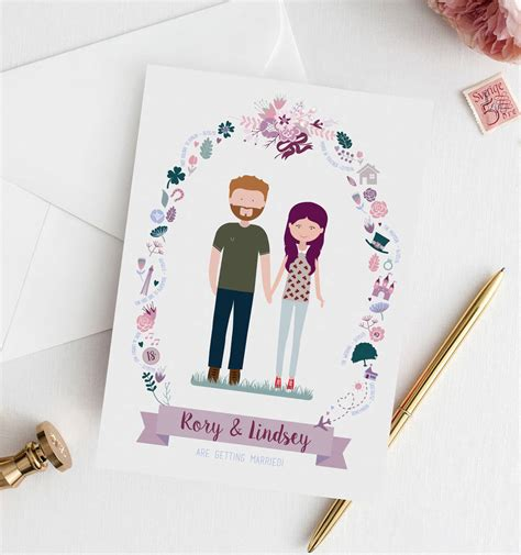 Illustrated Wedding Invitations