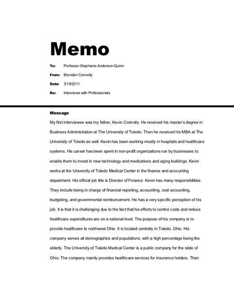 interview memo