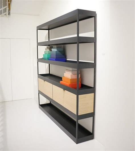hay new order vertical open shelf with trays eclectic cool