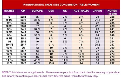 shoe size conversion shoe size conversion chart hairstyle 2013