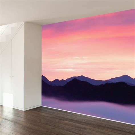 how to paint a sunset on a bedroom wall 25 best ideas about mountain sunset on pinterest