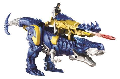 film robot dinosaurus mattel toy fair batman riding robot t rex dinosaur the