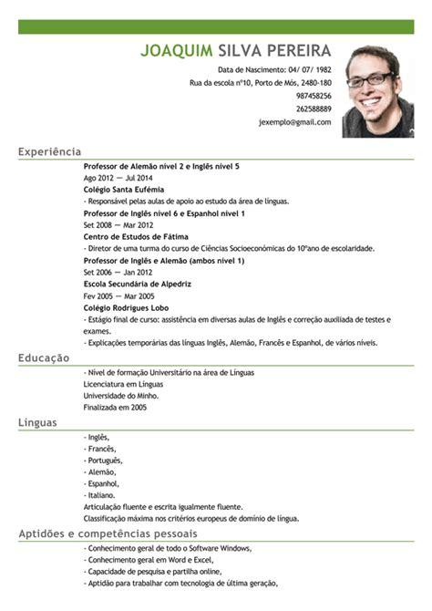 Modelo Curriculum Britanico Modelo De Curriculum Professor Exemplo De Cv Professor De Linguas Livecareer