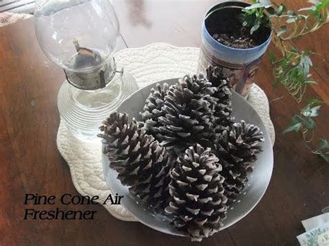 pine tree air freshener decoration pine cone air freshener diy or starters
