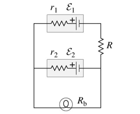 the diagram below shows two resistors connected in series to a 20 volt battery figure 1 the circuit diagram below shows two emf chegg