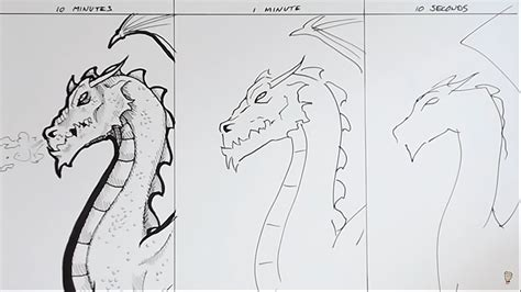 5 Second Sketches by Artist Does 10 Minute 1 Minute And 10 Second Sketch Of