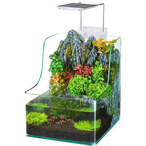 penn plax aqua terrarium planting tank with aquarium for fish waterfall led ebay