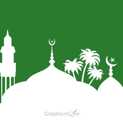 free design eps file download islamic mosque design free vector file download