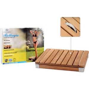 bellagio teak portable outdoor shower at brookstone buy now