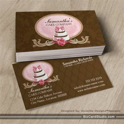 cake decorating business cards templates 25 best ideas about bakery business cards on