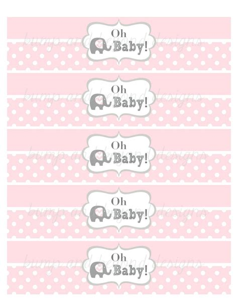 Free Printable Water Bottle Labels For Baby Shower by Water Bottle Labels Printable Baby Bumpandbeyonddesigns
