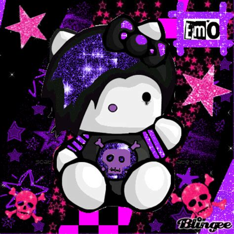 imagenes de kitty emo hello kitty emo picture 86709457 blingee com