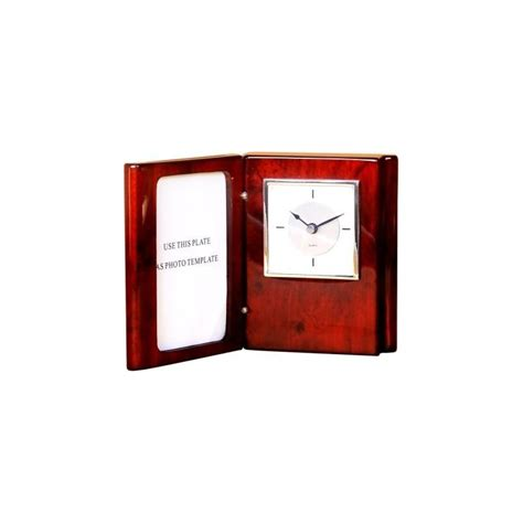 desk clock with picture frame wrappings