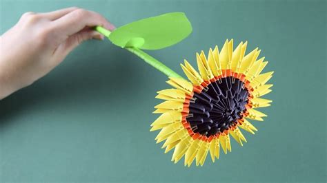 3d Origami Sunflower - 3d origami sunflower tutorial assembly for beginners my