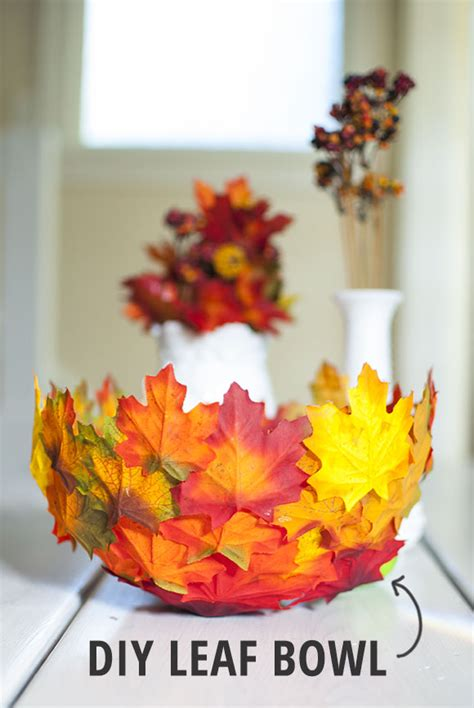 diy leaf decorations pictures photos and images for diy fall decor leaf bowl the neighborhood