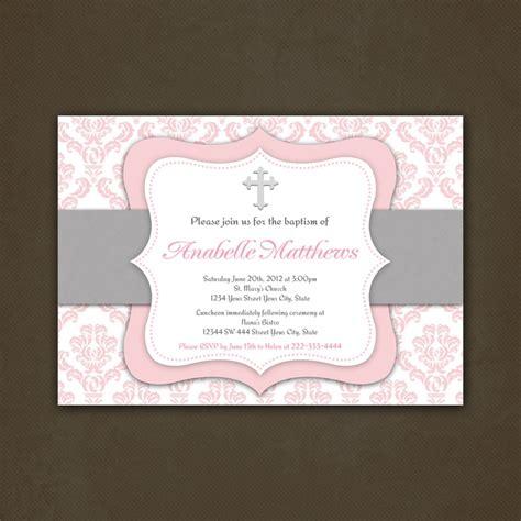printable invitations first communion printable christening baptism or first communion invitation