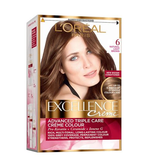 l oreal excellence creme 6 light brown hair colour ebay l oreal excellence creme hair colour 6 light brown