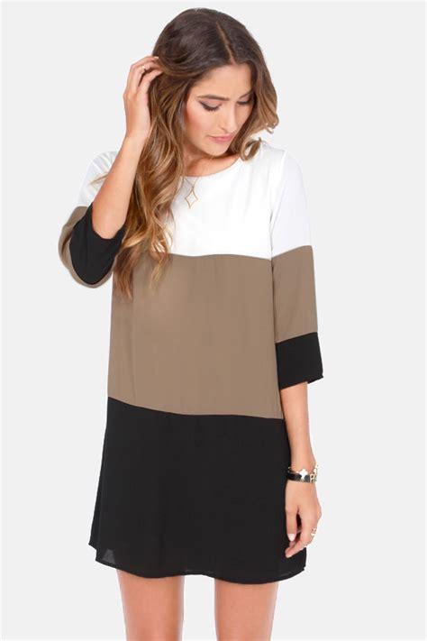 lulu s cute color block dress shift dress 40 00