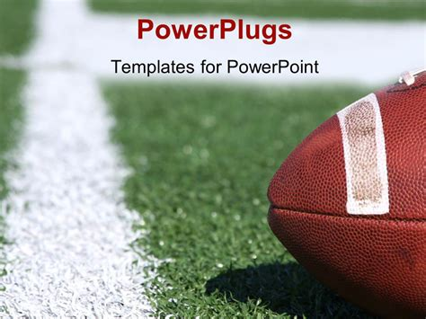 Powerpoint Template American Collegiate Football On A Football Powerpoint Slides