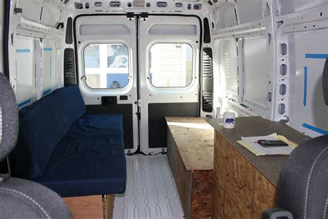 detailed walkthrough  converting  cargo van