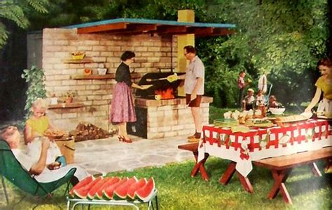 vintage backyard party mid century barbecue bar b q pinterest