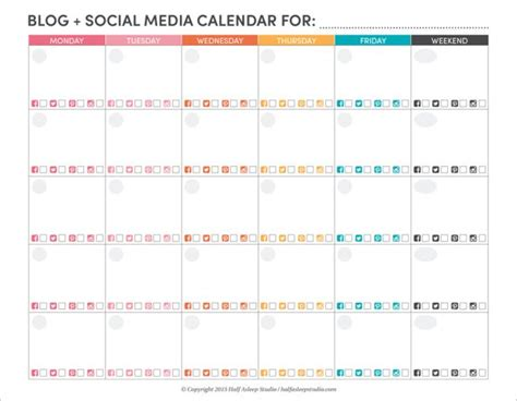 social media planning calendar template 1000 ideas about social media calendar on