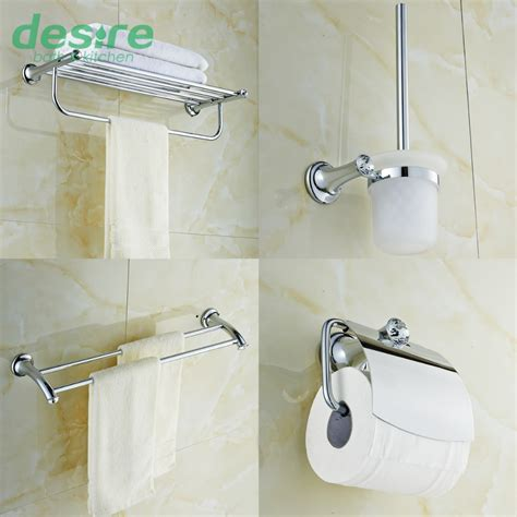 bathroom towel rack sets banheiro chrome brass and crystal bathroom accessories set