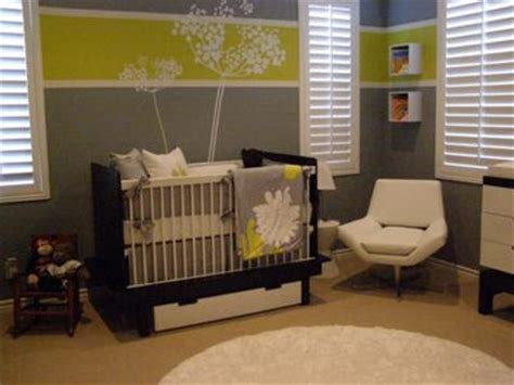 green and gray room custom nursery art by kimberly cool color combo another
