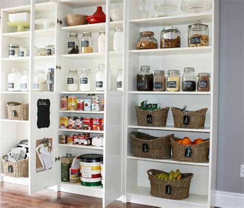 gorgeous pantry using billy bookcases from now at