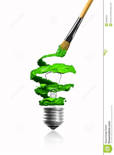 paintbrush paint spiral color trace light bulb stock photo image 28208520