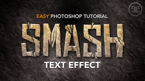 photoshop vector text tutorial easy photoshop tutorial smashed text effect w rock