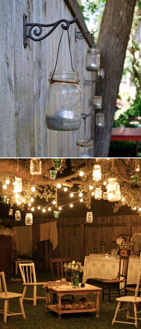 Hanging Patio Lights Ideas 15 Diy Backyard And Patio Lighting Projects Amazing Diy Interior Home Design