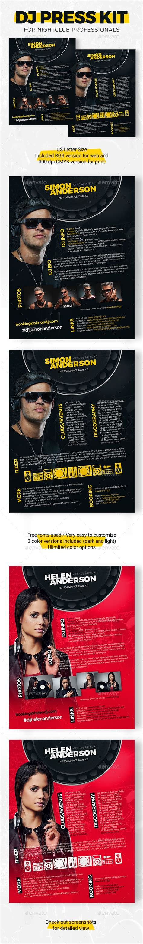 dj rider template 21 best dj press kit and dj resume templates images on