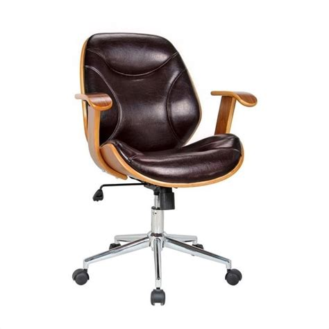 Brown Desk Chair by Boraam Rigdom Office Chair In Brown Ebay