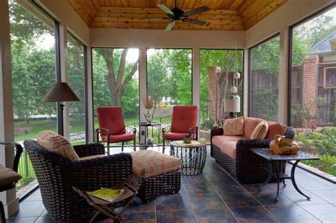 Enclosed Patio Designs Screened Enclosed Patio Traditional Porch Dallas