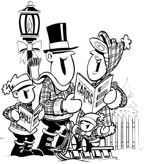 coloring page christmas carolers free christmas coloring page carolers