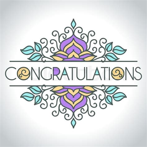 congratulations card template vector card with floral ornament design congratulations