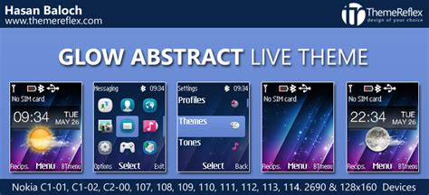 waptrick themes nokia 110 glow abstract live theme for nokia c1 01 c1 02 c2 00