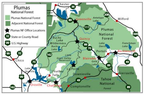 california map national forests us forest service plumas national forest ca the