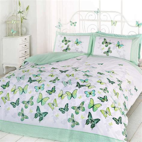 Girls Butterfly Bedding Reversible Polka Dot Cotton Rich Butterfly Cot Bedding Sets