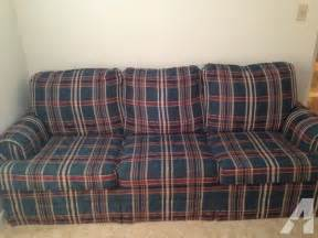 plaid sofa green plaid for sale in dayton ohio classified