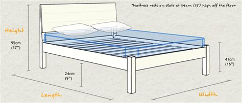 Standard Bed Frame Sizes Kensington Bed