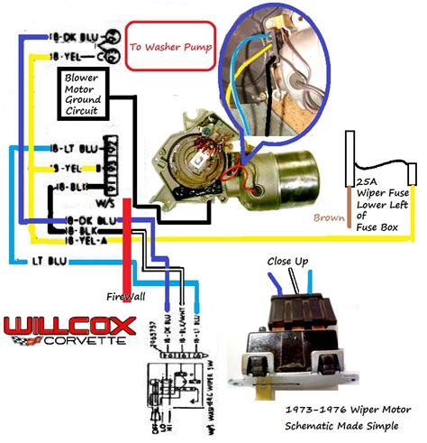 1973 1987 chevy gmc wiper motor wiring diagram 46 wiring